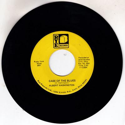 Albert Washington - A Case Of The Blues / One More Chance  Rye 11238