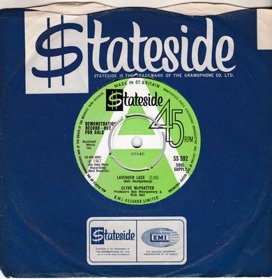 Clyde McPhatter - Lavender Lace / Sweet And Innocent - Stateside SS 592 DJ