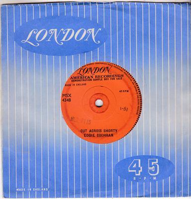 Eddie Cochran - Cut Across Shorty / blank: hum sound cut - London MSX 4348 DJ