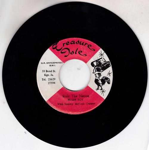 Hugh Roy / Nora Dean with Tommy McCook Quintet - Rule The Nation / Angle-Lala - Teasure Isle 7903