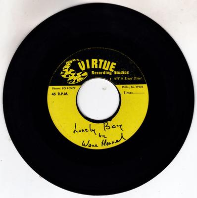 Wane Harrel - Lonely Boy / End Of Time - Virtue acetate