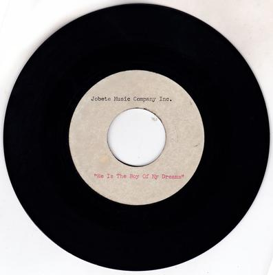"""Patrice Holloway - He Is The Boy Of My Dreams / blank - Jobete Music Company Inc. 7"""" acetate"""