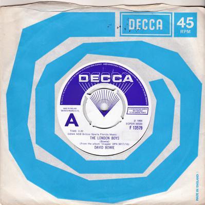 David Bowie - The London Boys / Love You Till Tuesday - Decca F 13579 DJ