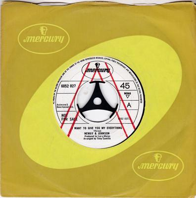 Newby & Johnson - I Want To Give You My Everything / Sweet Happiness - Mercury 6052 027 DJ