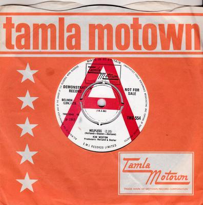 Kim Weston - Helpless / A Love Like Yours ( Don't Come Knocking Everyday ) - Tamla Motown TMG 554 DJ