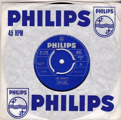 Elton John - Lady Samantha /All Across The Havens - Philips BF 1739