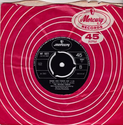 Moving Finger - Shake And Finger Pop / Higher And Higher - Mercury MF 1077