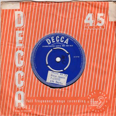 Otis Spann - Stirs Me Up / Keep Your Hand Out Of My Pocket - Decca DRF 33244-TI-1C test press