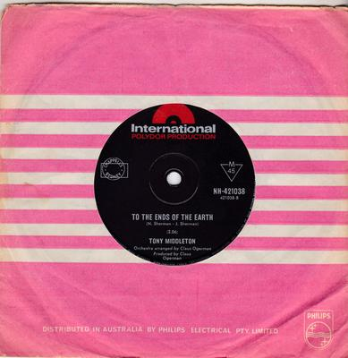 Tony Middleton - To The Ends Of the Earth / Don't Ever Leave Me - Polydor International NH 421038