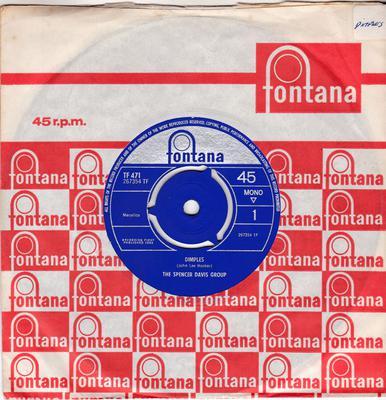 Spencer Davis Group - Dimples / Sittin' And Thinkin' - Fontana TF 471