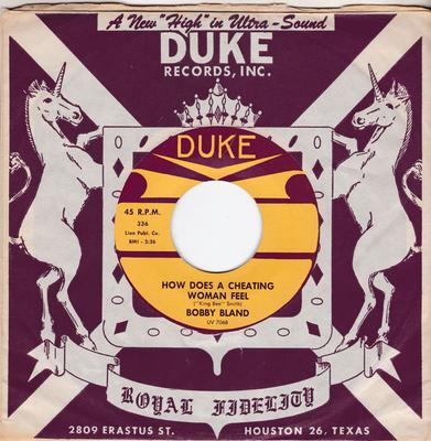 Bobby Bland - How Does A Cheating Woman / Don't Cry No More - Duke 336