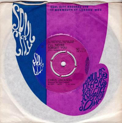 Chris Jackson - I'll Never Forget You / Forever I'll Stay With You - Soul City SC 112