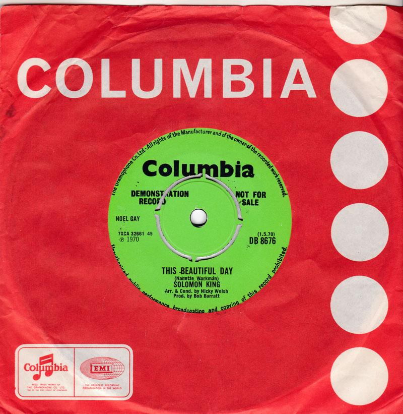 Solomon King - This Beautiful Day / Say A Prayer - Columbia DB 8676 DJ
