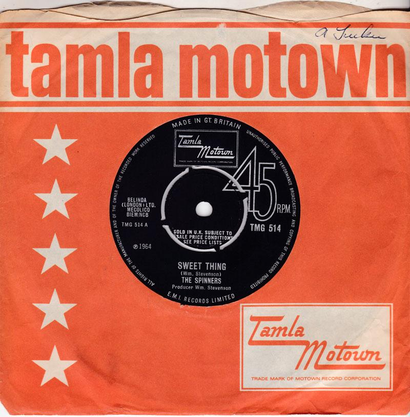 Spinners - Sweet Thing / How Can I - Tamla Motown TMG 514