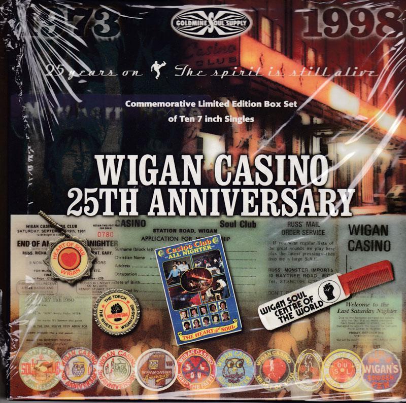 Various Artists - Wigan Casino 25th. Anniversary Box Set / 10 x 45 20 x Northern Soul classics - Goldmine / Soul Supply GS1000X