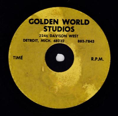 """Rose Batiste -That's What He Told Me / blank - Golden World 10"""" acetate"""