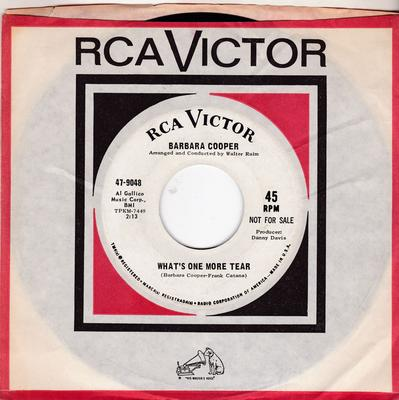 Barbara Cooper - What's One More Tear / The Playground - RCA 47-9048 DJ