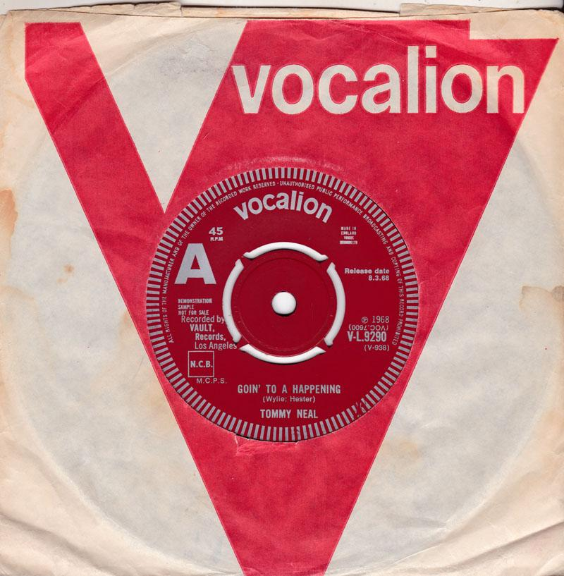 Tommy Neal - Goin' To a Happening / Tee Ta - Vocalion V-L 9290 DJ
