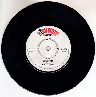 Afrotones / Beltones  - All For One / Broken Heart - High Note HS 023