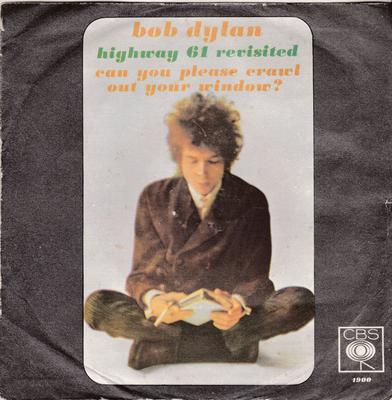 Bob Dylan - Highway 61 Revisited / Can You Please Crawl Out Your Window? - Italian CBS 1900 PS