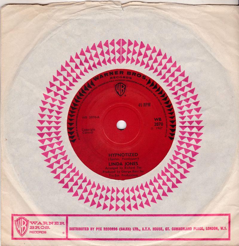 Linda Jones - I Can't Stop Lovin' My Baby / Hypnotized  - Warner Bros 2070