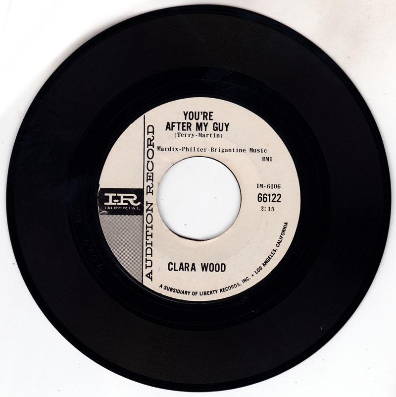 Clara Wood - You're After My Guy / Old and Grey - Imperial 66122 DJ