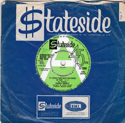 Vernon Garrett - If I Could Turn Back The Hands Of Time / You And Me Together - Stateside SS 2006 DJ