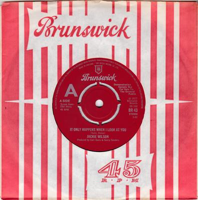 Jackie Wilson - It Only Happens When I Look At You / Just As Soon As The Feelings Over -  - UK Brunswick BR 43 DJ