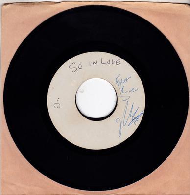 Gino Washington - So In  Love / Not Me - ATAC studio acetate