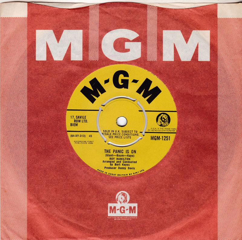 Roy Hamilton - The Panic Is On / There She Is - MGM 1251