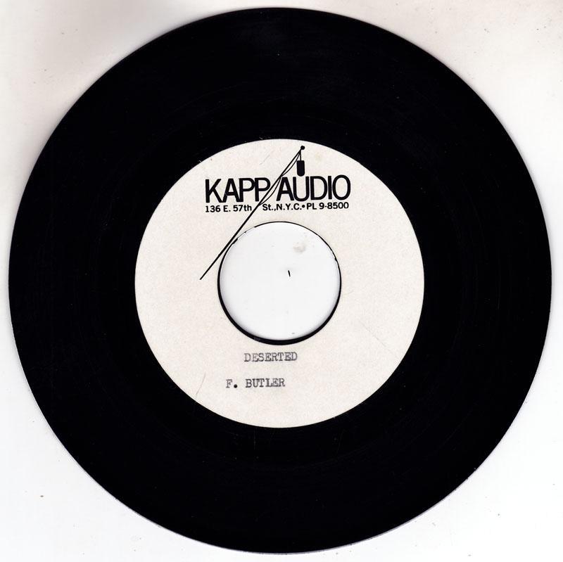Freddy Butler - Deserted / blank - Kapp Audio 7