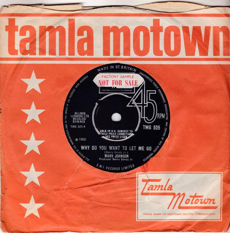 Marv Johnson - Why Do You Want To Let Me Go / I'm Not A Plaything - Tamla Motown TMG 525 DJ