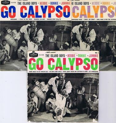 Island Boys - Go Calypso EP's the full set of 3 / 3 x EP set UK  - London RE-R 1122 / 1123 / 1124