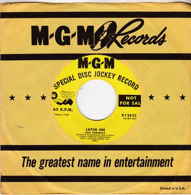 Ron Hargrave - Latch On / same: 1:59 version - MGM K12422 DJ