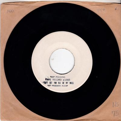 Art Freeman - Slipping Around ( With You ) / Can't bGet You Out Of My Mind - Fame 1008 test press