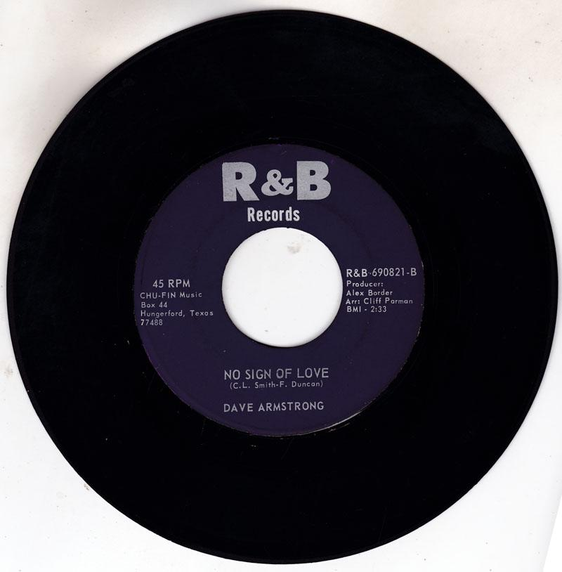 Dave Armstrong - No Sign Of Love / This Thing - R&B 69821