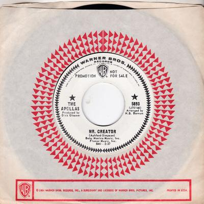 Apollas - Mr. Creator / All Sold Out - Warner Bros. 5893 DJ