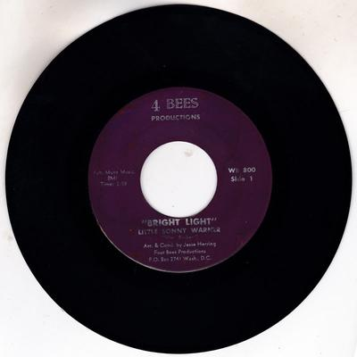 Little Sonny Warner - Bright Light / My Love For You - 4 Bees Productions 220