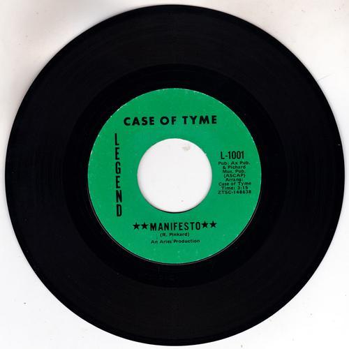 Case Of Tyme - Manifesto / Some call It Love - Legend L-1001
