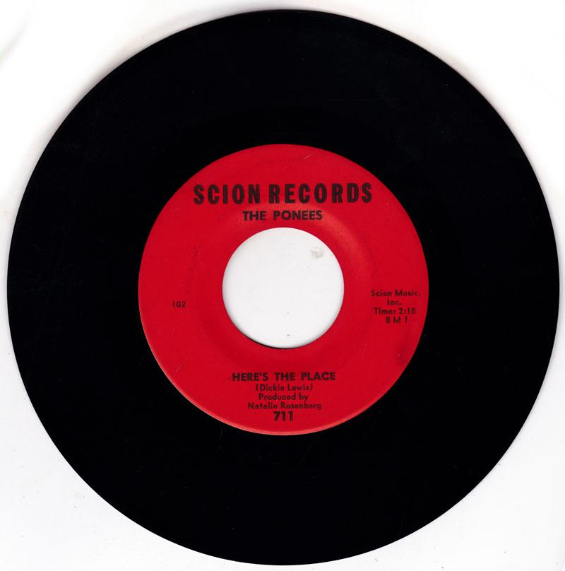 Ponees - Here's The Place / Move It, Groove It - Scion Records 711
