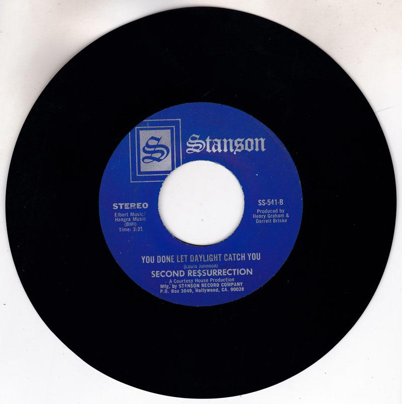 Second Re$surrection - You Done Let Daylight Catch You / Smoke In The Disco - Stanson SS 541