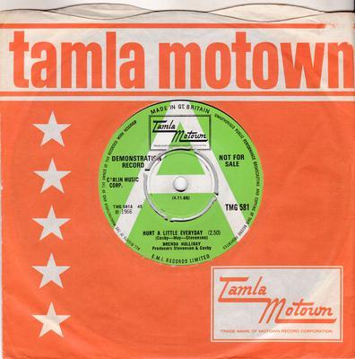 Brenda Holliday (Brenda Holloway)   - Hurt A Little Everyday / Where Were You - Tamla Motown TMG 581 DJ