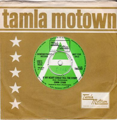 Edwin Starr - If My Heart Could Tell The Story / blank - Tamla Motown TMG 692 DJ