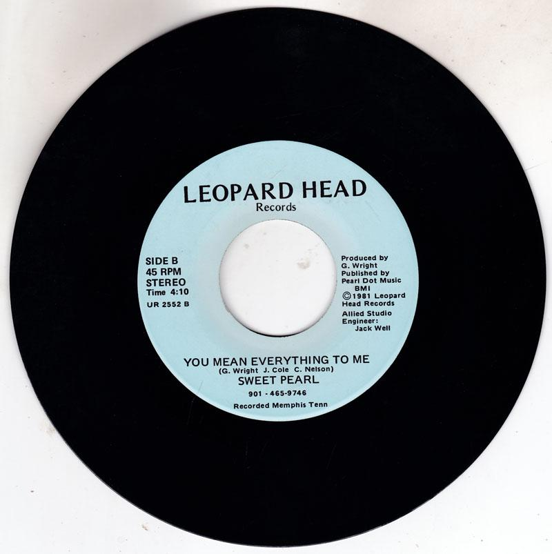 Sweet Pearl - You Mean Everything To Me / While We Are Together - Leopard Head UR 2552