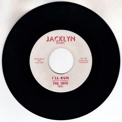 Paul Smith - I'll Run / Ain't That Something - Jacklyn 1001