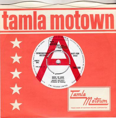 Brenda Holloway - When I'm Gone / I've Been Good To You - Tamla Motown TMG 508 DJ