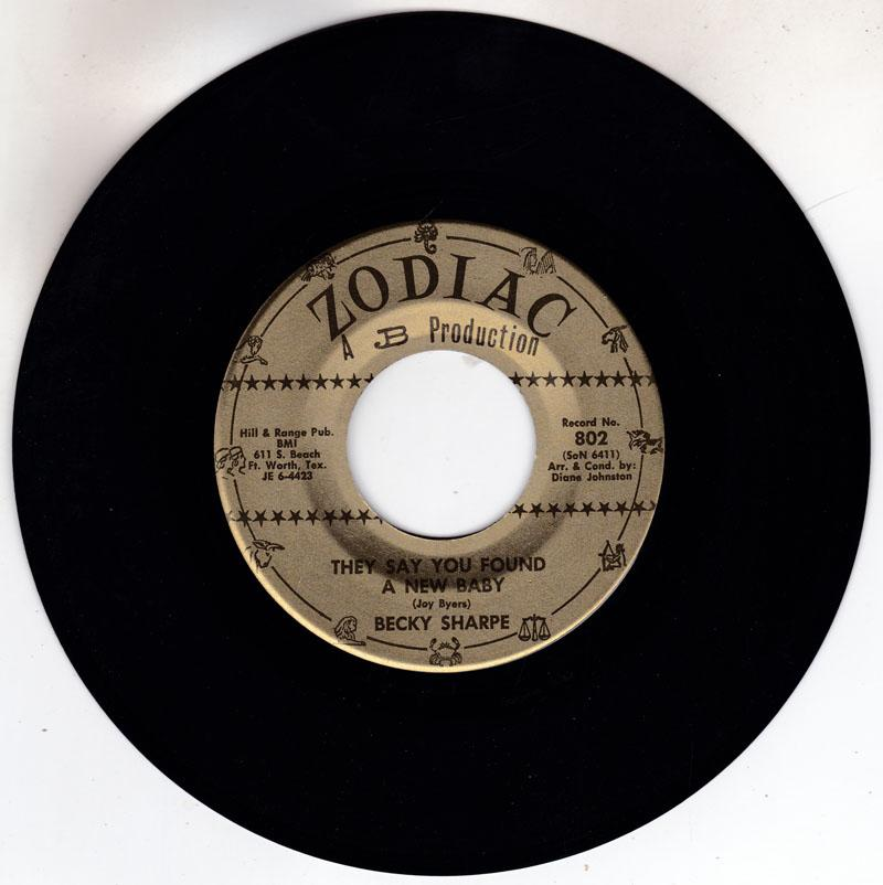 Becky Sharpe - They Say You Found A New Baby / Miss Me - Zodiac 802