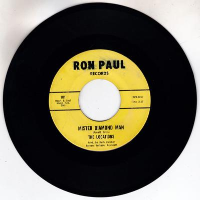 Locations - Mister Diamond Man / He's Gone - Ron Paul 101