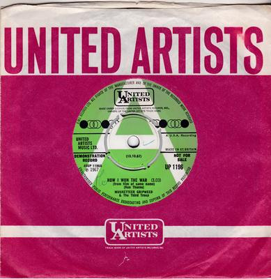 Musketteer Gripweed - How I Won The War / Aftermath - United Artists UP 1196 DJ