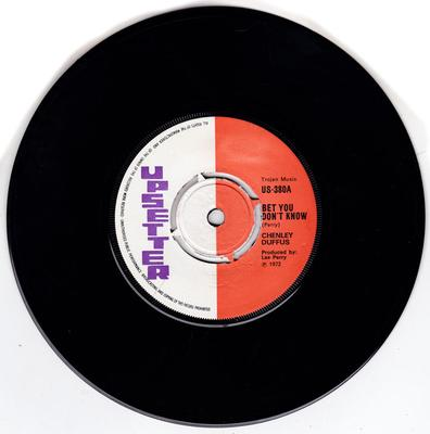 Chenley Duffus / Upsetters - Bet You Don't Know / Ring Of Fire - Upsetter US 380